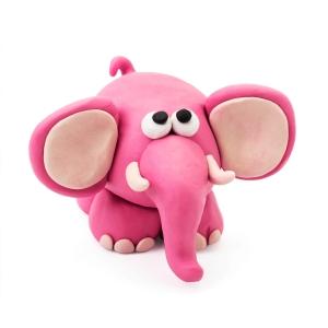 Plasticine elephant